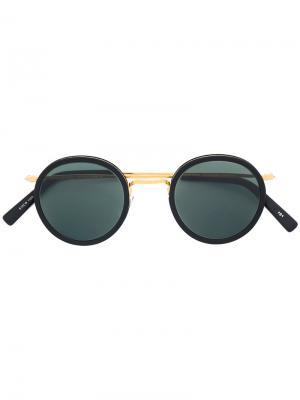 Round sunglasses Masunaga. Цвет: чёрный