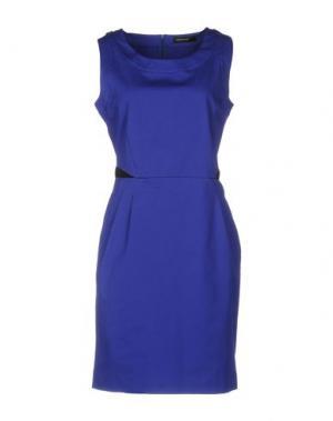Короткое платье FABRIZIO LENZI. Цвет: ярко-синий