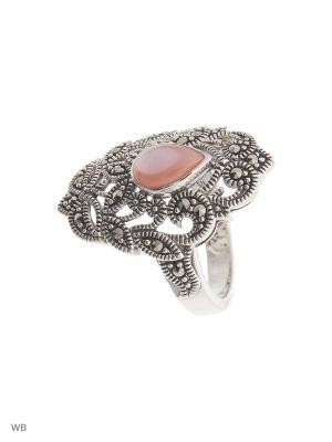 Кольцо МАРКАЗИТ. Цвет: серебристый, розовый
