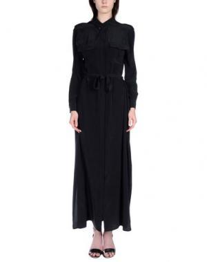Длинное платье EQUIPMENT FEMME. Цвет: стальной серый