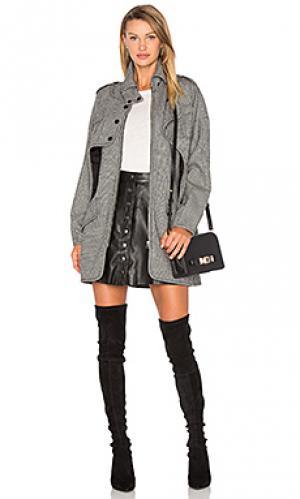 Пальто в клетку nicholas Marissa Webb. Цвет: black & white