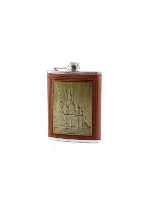 Фляжка подарочная Санкт-Петербург 230мл Русские подарки. Цвет: бронзовый, рыжий