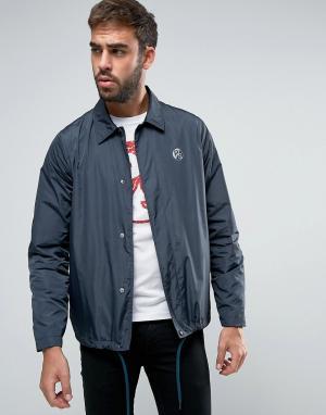 PS by Paul Smith Темно-синяя спортивная куртка с логотипом. Цвет: темно-синий