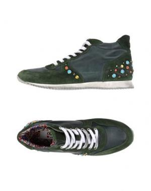 Высокие кеды и кроссовки YAB. Цвет: зеленый