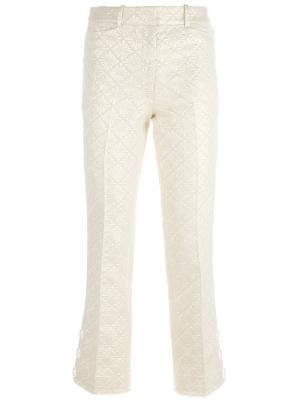 Жаккардовые брюки с цветочным узором Simone Rocha. Цвет: телесный