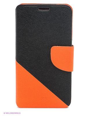 Чехол для Samsung S5 WB. Цвет: черный, оранжевый