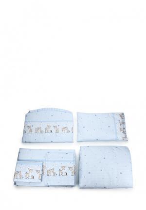 Постельное белье Сонный Гномик. Цвет: голубой