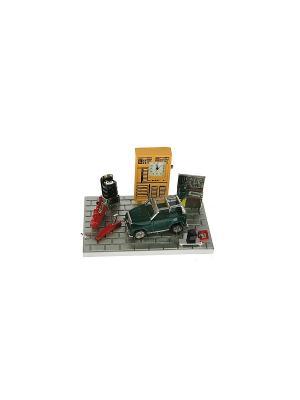 Часы настольные Автомастерская Русские подарки. Цвет: темно-зеленый, антрацитовый, серый
