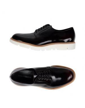 Обувь на шнурках PIERRE DARRÉ. Цвет: баклажанный