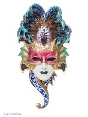 Венецианская маска Сова Veronese. Цвет: золотистый, голубой, розовый