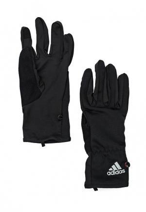 Перчатки беговые adidas Performance. Цвет: черный