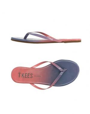 Вьетнамки TKEES. Цвет: коралловый