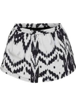Пляжные шорты (черный/белый) bonprix. Цвет: черный/белый