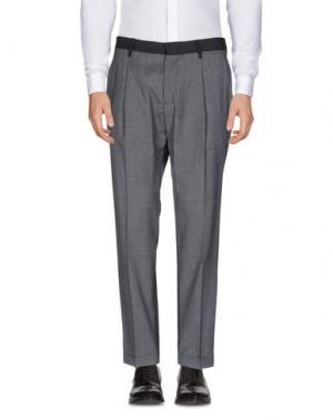 Повседневные брюки THE EDITOR. Цвет: серый