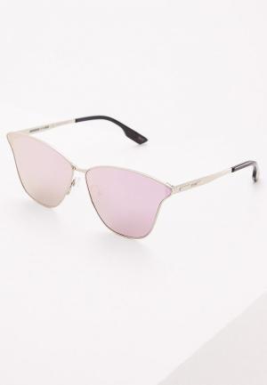 Очки солнцезащитные McQ Alexander McQueen. Цвет: серебряный
