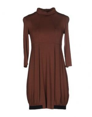 Короткое платье 1-ONE. Цвет: какао