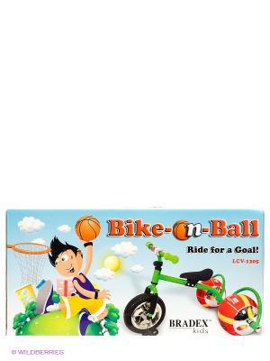 Велосипед с колесами в виде мячей БАСКЕТБАЙК BRADEX. Цвет: зеленый
