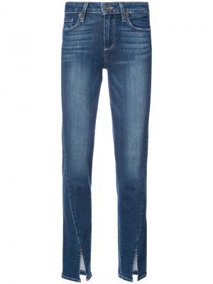 Slit hem jeans Paige. Цвет: синий