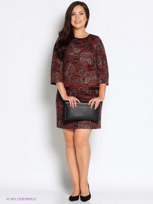 Платье Битис. Цвет: темно-бордовый