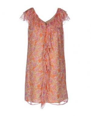 Короткое платье 19.70 NINETEEN SEVENTY. Цвет: оранжевый
