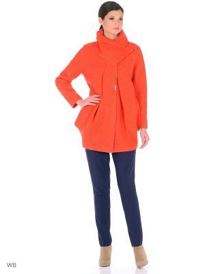 Пальто Victoria Bloom. Цвет: оранжевый