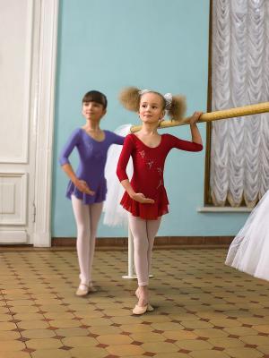 Гимнастический купальник Arina Ballerina. Цвет: красный