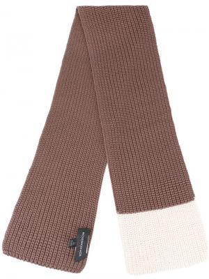 Вязаный шарф Rossignol. Цвет: розовый и фиолетовый
