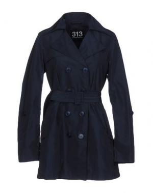 Легкое пальто 313 TRE UNO. Цвет: темно-синий