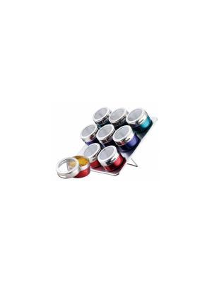 Набор для специй с магнитными крышками Peterhof. Цвет: красный, синий, зеленый