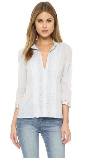 Блуза Liz St. Roche. Цвет: сизый