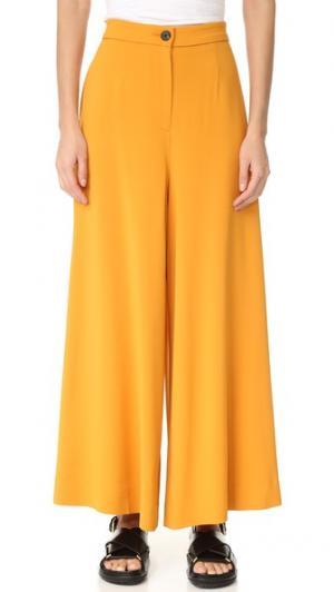 Широкие брюки Tome. Цвет: шафран