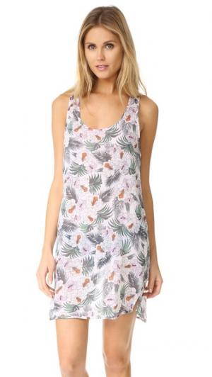 Пляжное платье со спиной-борцовкой и цветочным принтом Surf Bazaar. Цвет: цветочный принт