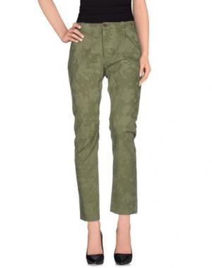 Джинсовые брюки NAKED APE. Цвет: зеленый-милитари