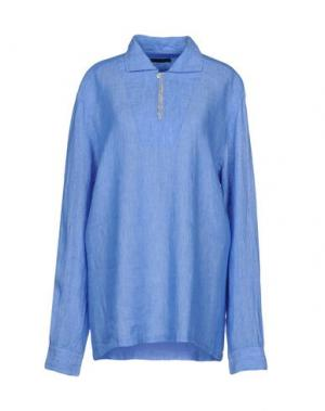 Блузка BRIAN DALES. Цвет: синий