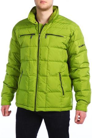 Куртка XASKA. Цвет: зеленый