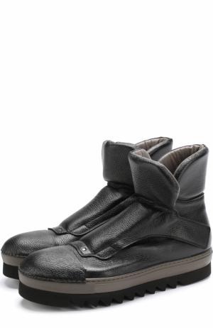 Высокие кожаные ботинки на толстой подошве Rocco P.. Цвет: черный