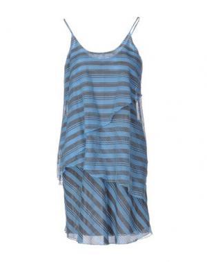 Короткое платье NEW YORK INDUSTRIE. Цвет: небесно-голубой