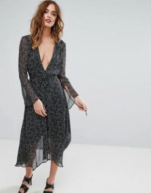 Bec & Bridge Платье миди Stargazer. Цвет: мульти