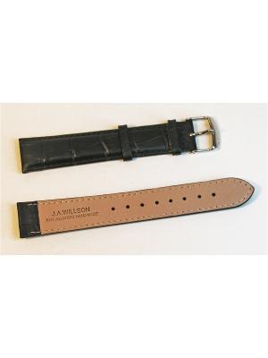 Ремень для часов, им.АЛЛИГАТОРА, удлиненный, черный, 20 x 18 мм, XXL J.A. Willson. Цвет: черный