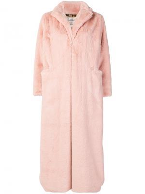 Oversized long coat Pink Memories. Цвет: телесный