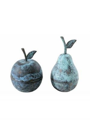 Декоративная емкость, 2 штуки Heine Home. Цвет: синий/бирюзовый