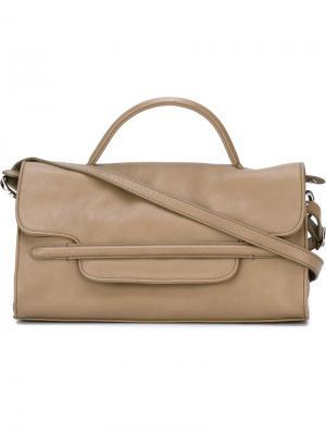 Маленькая сумка-тоут Nina Zanellato. Цвет: телесный