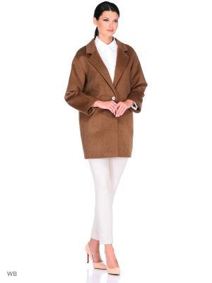 Пальто Exalta. Цвет: коричневый