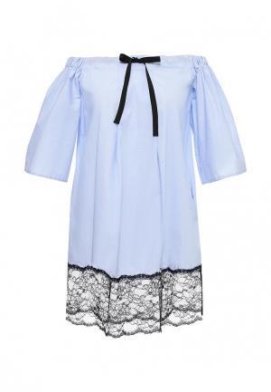 Платье Fornarina. Цвет: голубой