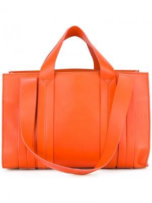 Средняя сумка-тоут Costanza Corto Moltedo. Цвет: жёлтый и оранжевый