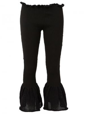 Вязаные расклешенные брюки Helen Lawrence. Цвет: чёрный