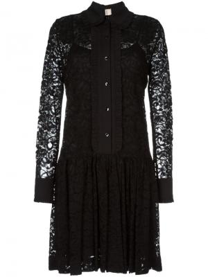 Кружевное платье с цветочным узором Antonio Marras. Цвет: чёрный