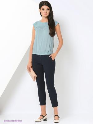 Блузка KEY FASHION. Цвет: серо-голубой
