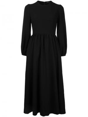 Puffy sleeve maxi skater dress G.V.G.V.. Цвет: чёрный