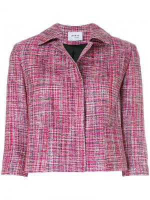 Укороченный пиджак Akris. Цвет: розовый и фиолетовый